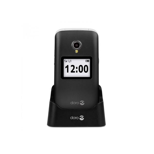 Doro 2424 negro blanco móvil senior 2.4'' notificaciones cámara 3mp bluetooth radio fm micro sd