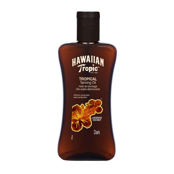 Hawaiian tropic tanning oil dark 200ml