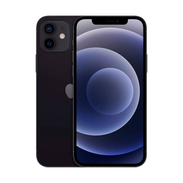 Apple iphone 12 negro móvil dual sim 5g 6.1'' oled super retina xdr cpu a14 bionic 256gb 6gb ram dualcam 12mp selfies 12mp