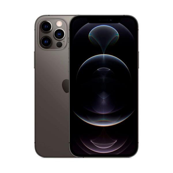Apple iphone 12 pro max grafito móvil dual sim 5g 6.7'' oled super retina xdr cpu a14 bionic 128gb 6gb ram tricam 12mp selfies 12mp